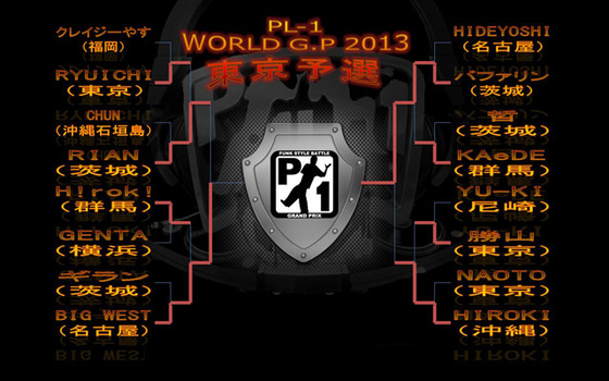 P-1 G.P 10th Anniversary(PL-1 WORLD G.P 2013 東京予選!)