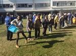 避難所防災訓練 四谷第六小学校地域