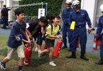 避難所防災訓練に参加しましょう。四谷第六小学校での訓練の様子です。Let's participa