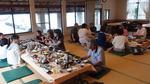 島宿 三虎さんでの食事風景・・