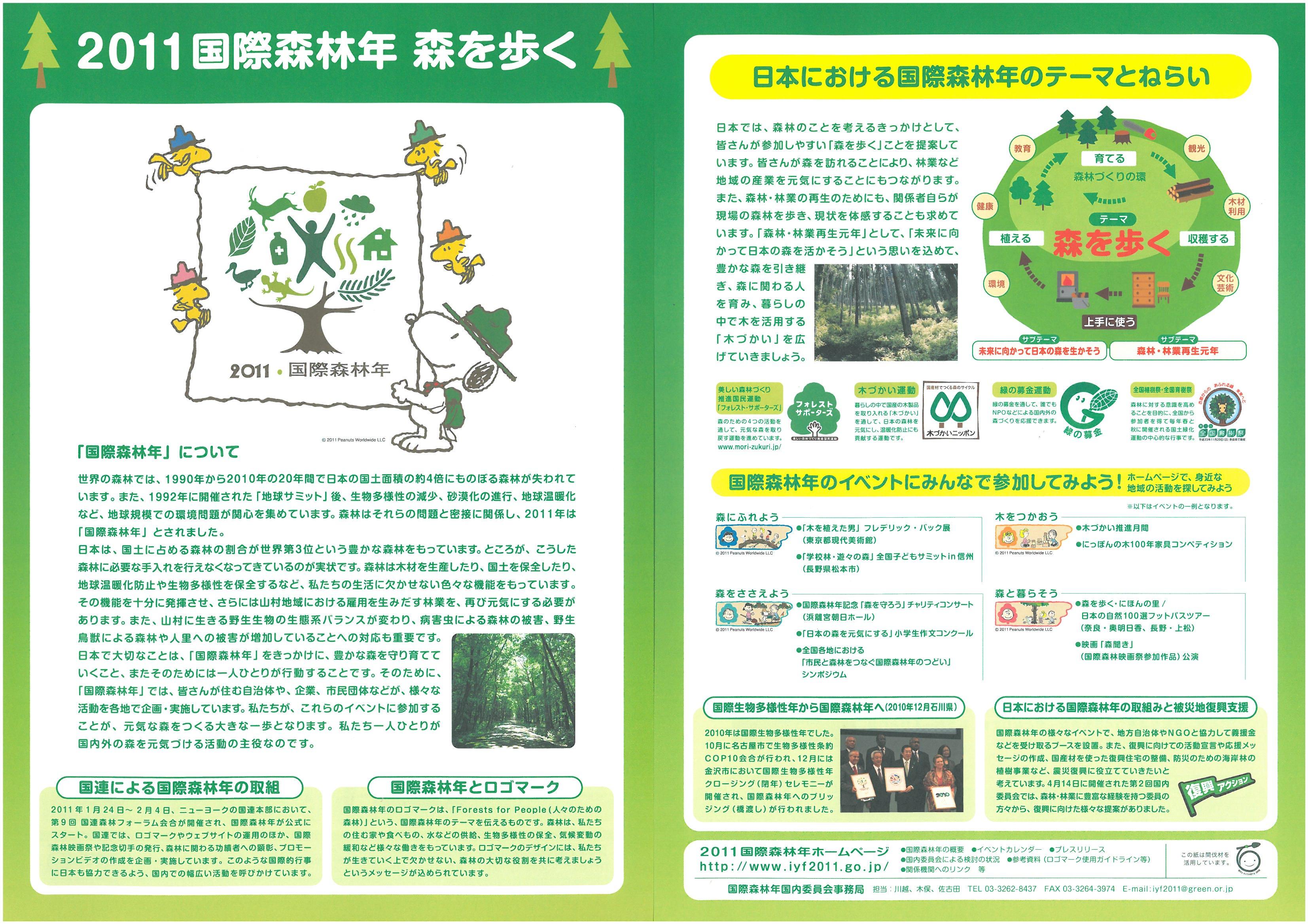 2011国際森林年 森を歩く画像