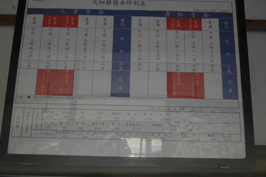 【大畑駅】   熊本県