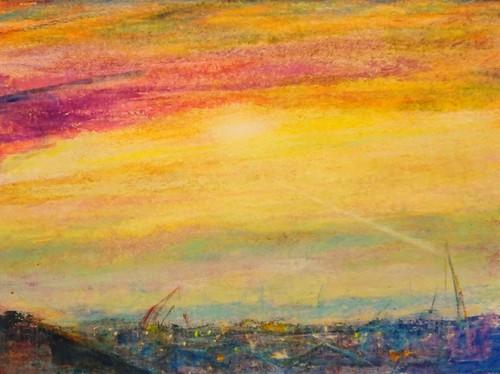 今村 武 の 絵 絵画 クレパス 2